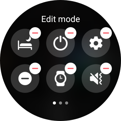 Editing buttons on Galaxy Watch 4