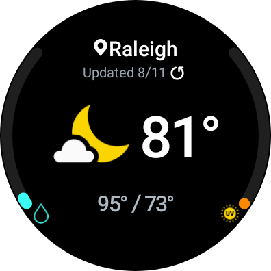 Weather Tile on Galaxy Watch 4