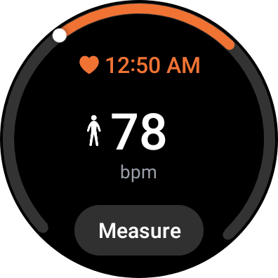 Heart rate Tile on Galaxy Watch 4