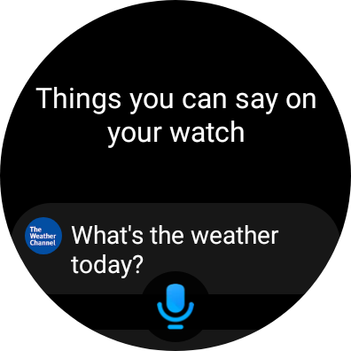 Bixby showing suggestions for voice commands