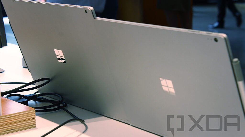 Rear view of Surface Book 2 13 and 15