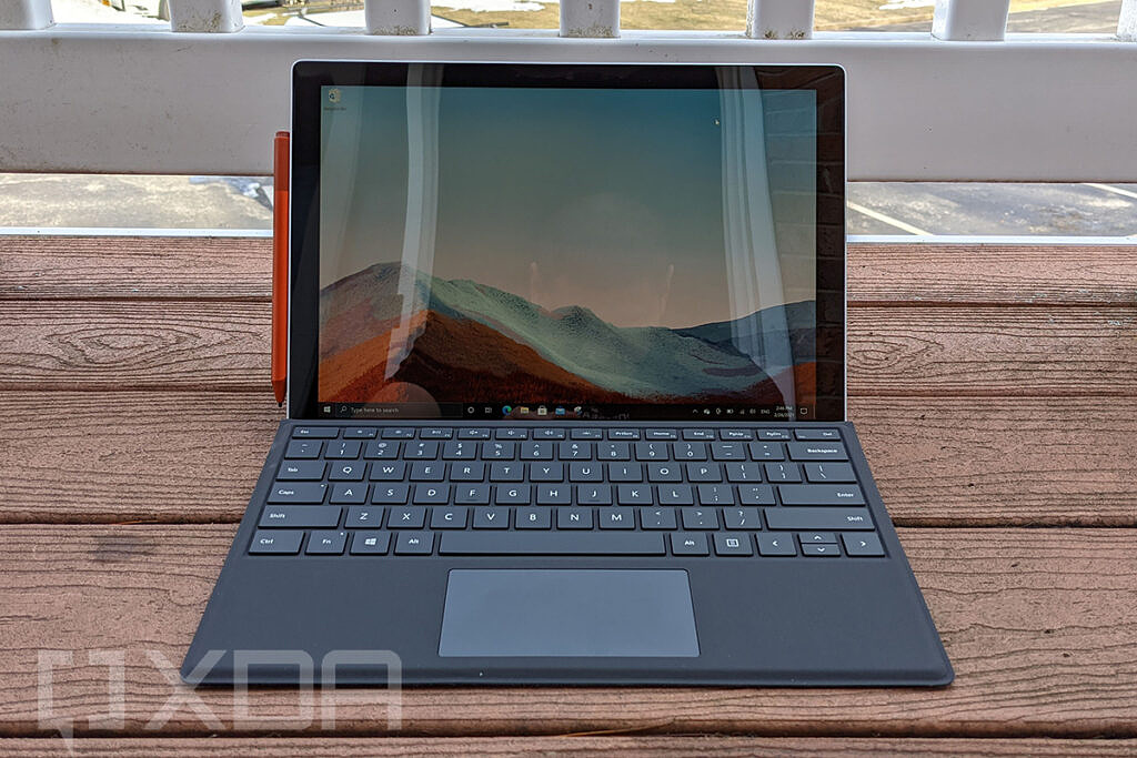 Surface Pro 7+ front view