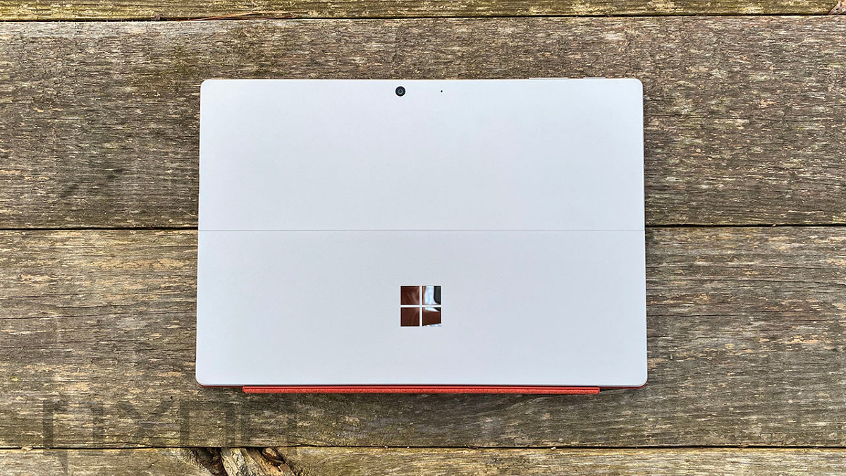 Surface Pro 7 face down