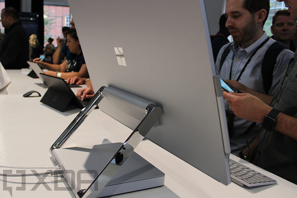 Rear view of Surface Studio 2