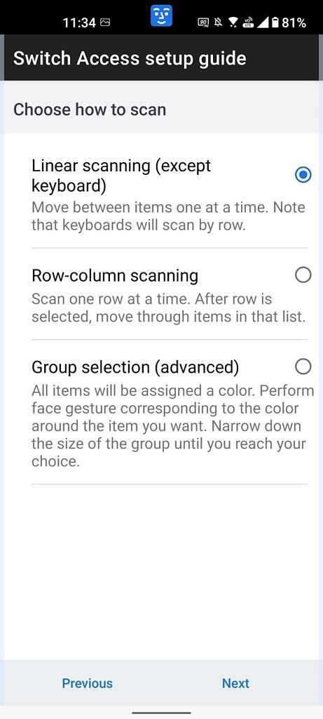 Row scanning options for Camera Switches