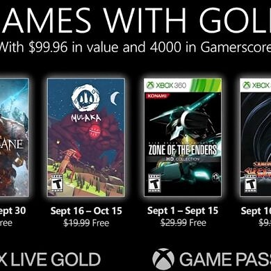 Here are the free games from Xbox Games with Gold in September 2021
