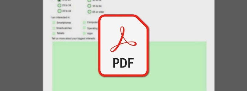 Need to share a PDF form? Here's how to make a PDF fillable