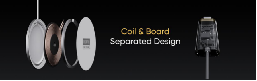 Coil and board of Realme's 15 MagDart charger