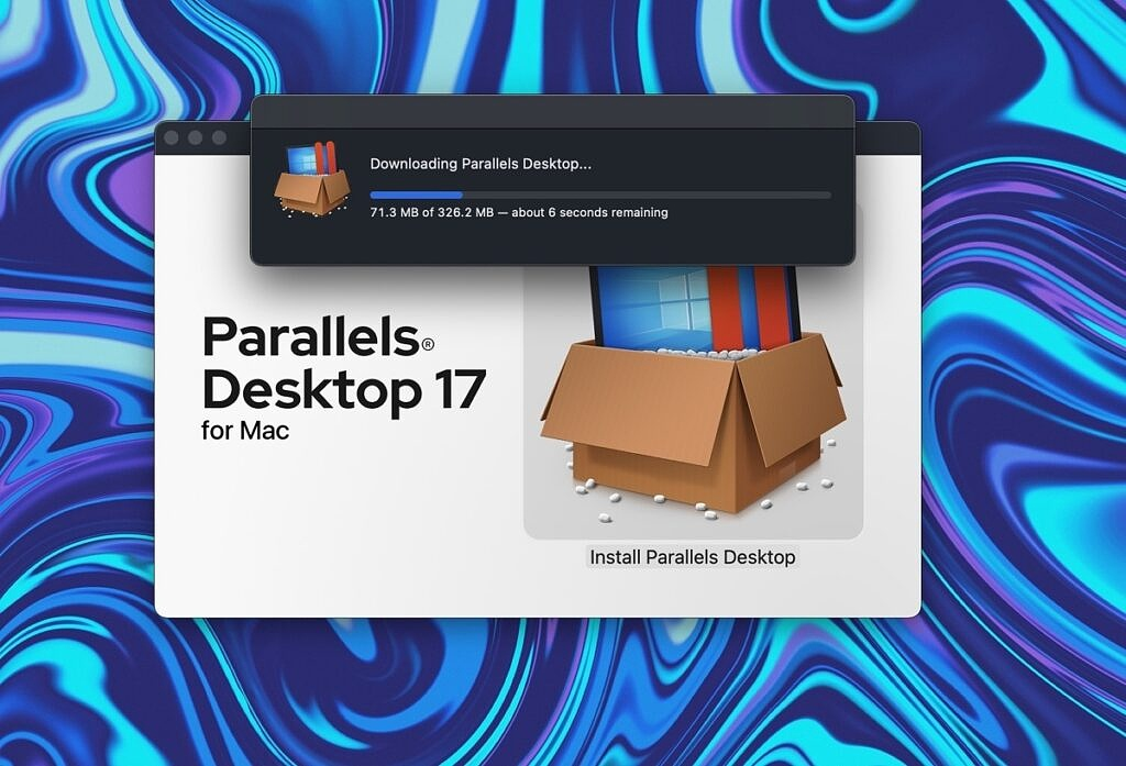 parallels 17 install dialog