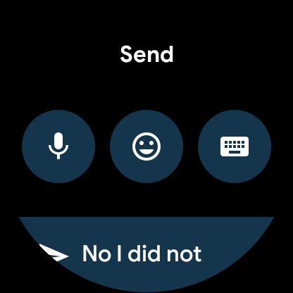 Reply options on Wear OS 2