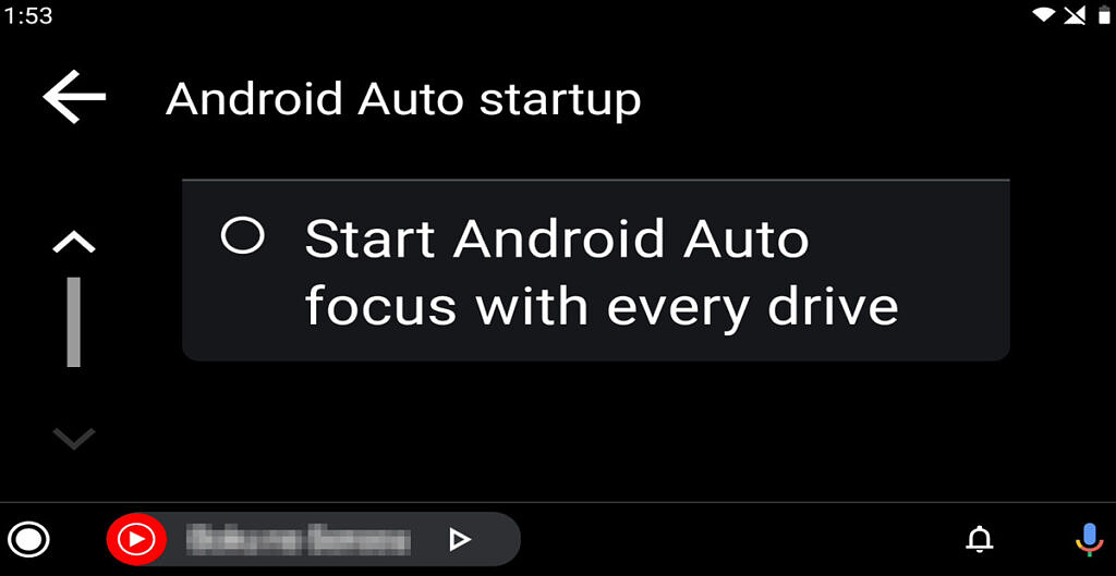 Android Auto startup options