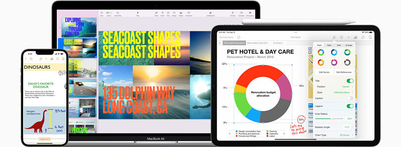 iWork update brings new features for Keynote, Pages, and Numbers
