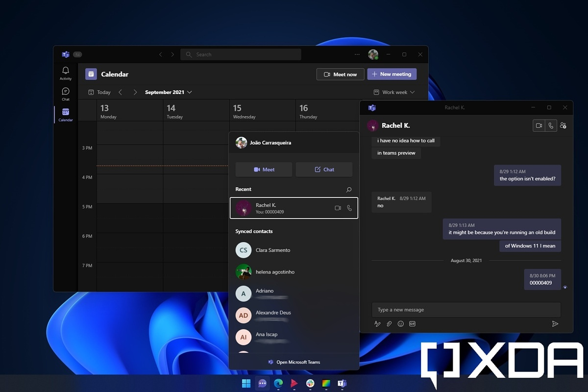 Windows 11 deep dive: Chat with Microsoft Teams - XDA Developers