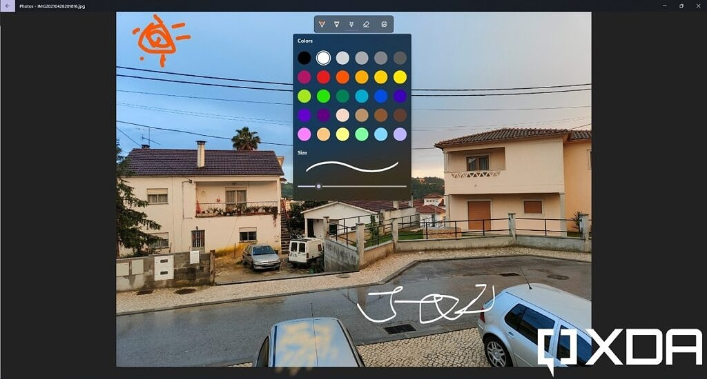 Drawing on an image in Windows 11 Photos app