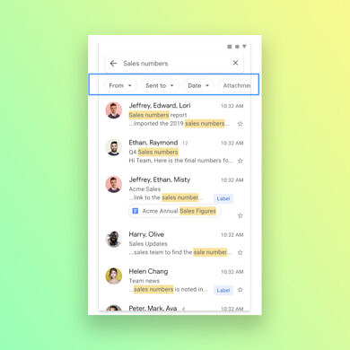 Google makes it easier to search emails in Gmail by adding filters