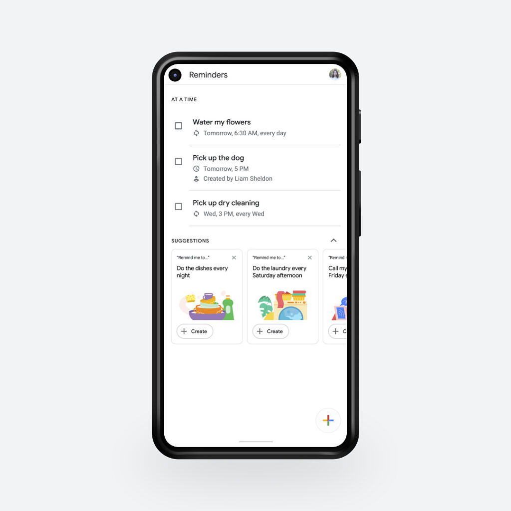 Reminders hub in Google Assistant
