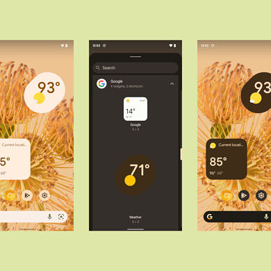 Here's a look at the Assistant weather widget in the Google App