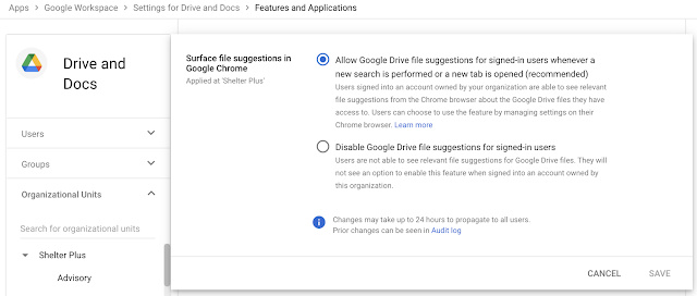 Google Chrome new tab page Drive suggestions request