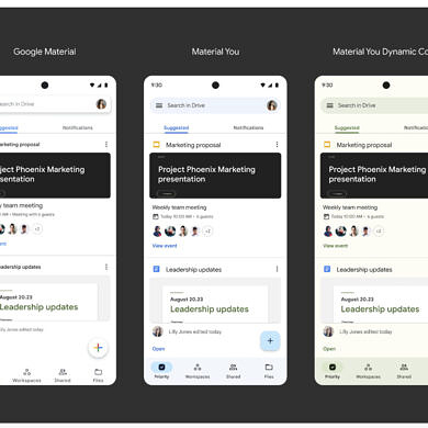Google Drive's Material You update also brings a new X-shaped widget