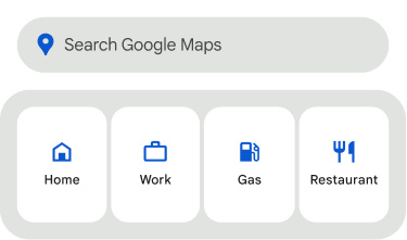 Search widget in Google Maps for Android