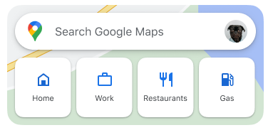 Search widget in Google Maps for iOS