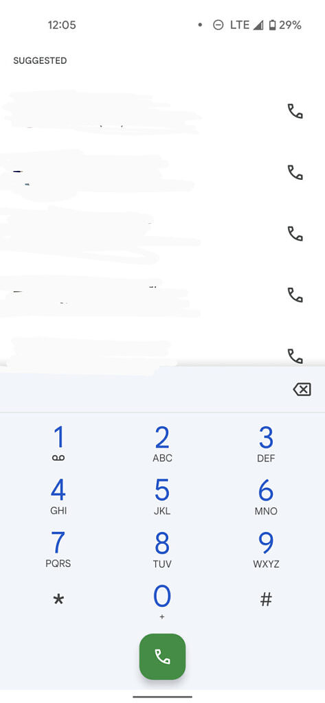 Google Phone app dialpad with Material You changes