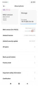 About phone screen showing MIUI version