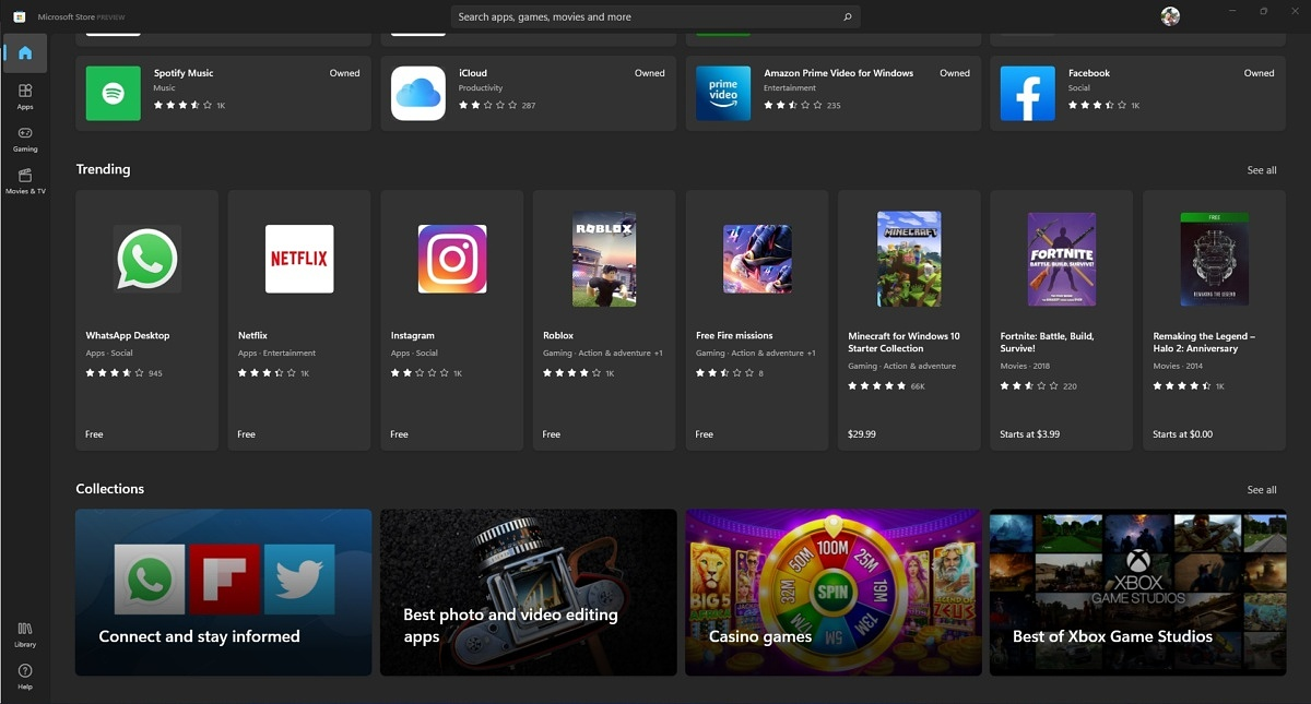 Microsoft Store collections