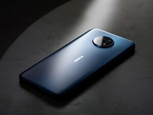 The Nokia G50 lying on a table