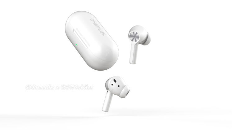 OnePlus Buds Z2 earbuds shown alongside their charging case