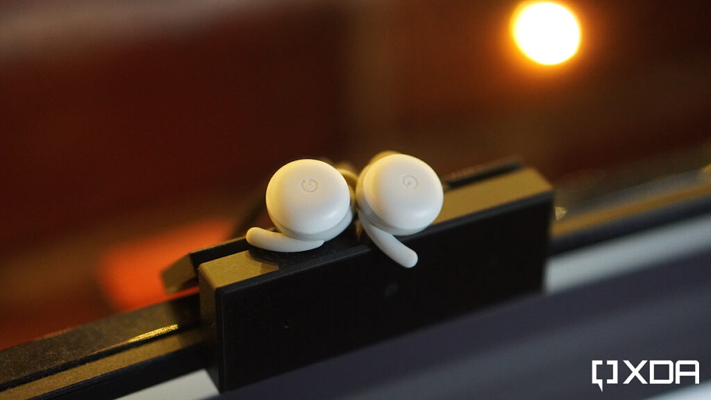 Earbuds with Google Branding