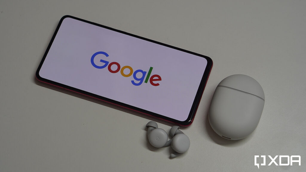 Pixel Buds A and Google logo