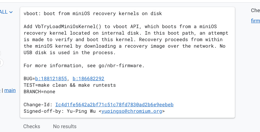 Chromium Commit reinstall without usb