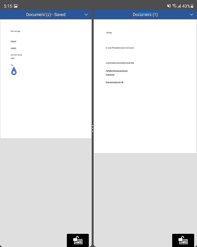 Two docs of MS Word in MS Office open at the same time -- multiple app instances
