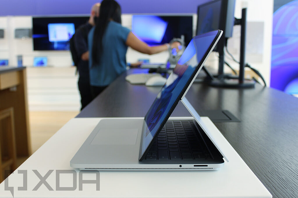 Side view of Surface Laptop Studio