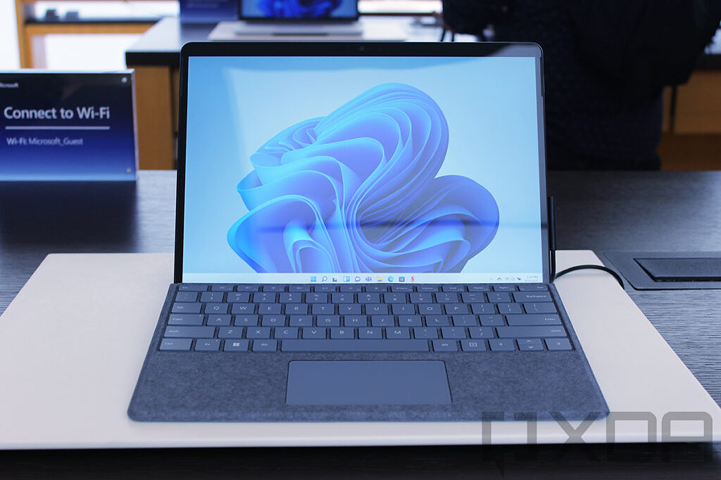 Front view of Surface Pro 8