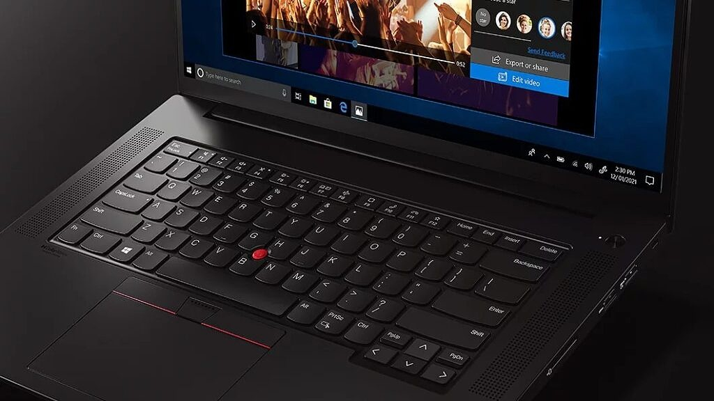 ThinkPad X1 Extreme used for video editing