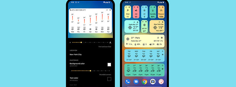 Today Weather App Redesigned for Tablets, Foldables and Android 12-style for Widgets