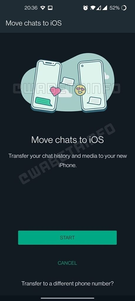 whatsapp ios to android migration