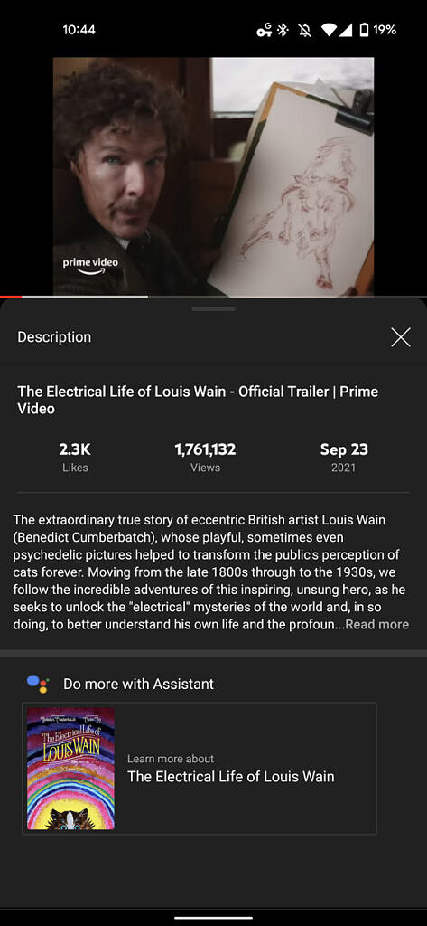 the electric life of louis wain assistant suggests reading more about the movie