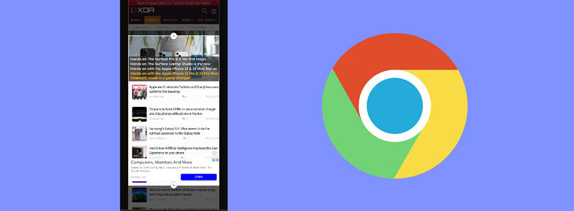 How to take a full page screenshot in Google Chrome for Android