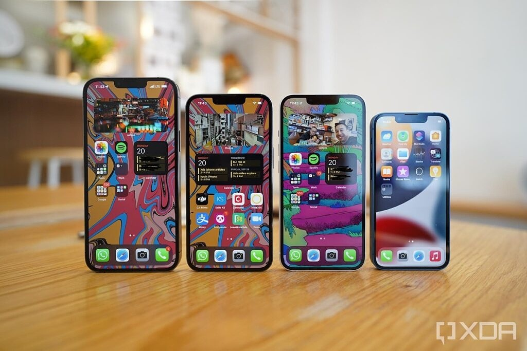 All four iPhone 13s
