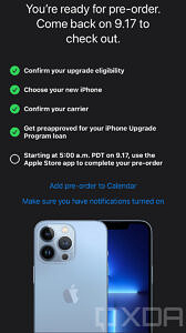 iPhone Upgrade Program pre-approval page