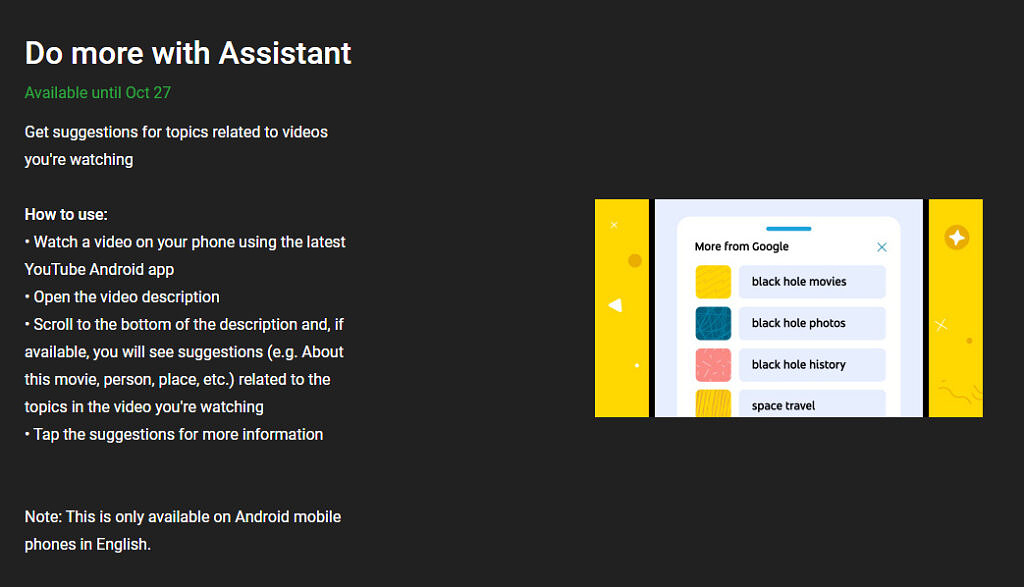 youtube do more with assistant