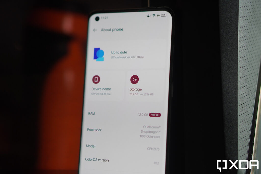 ColorOS 12 about phone