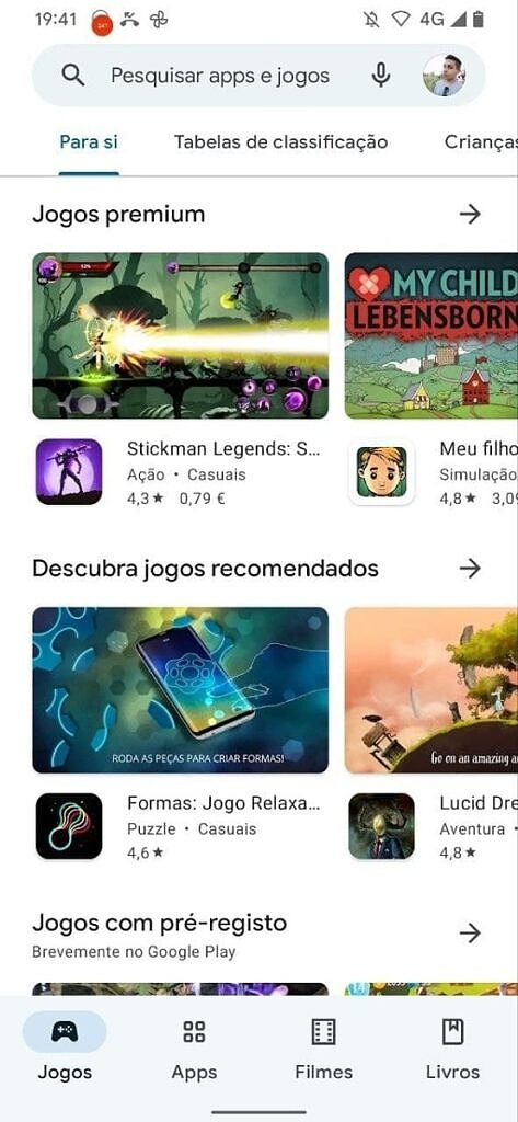 Google Play Store with Material You light mode
