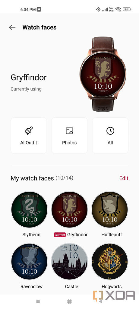 OnePlus Health app screenshot for OnePlus Watch Harry Potter Limited Edition