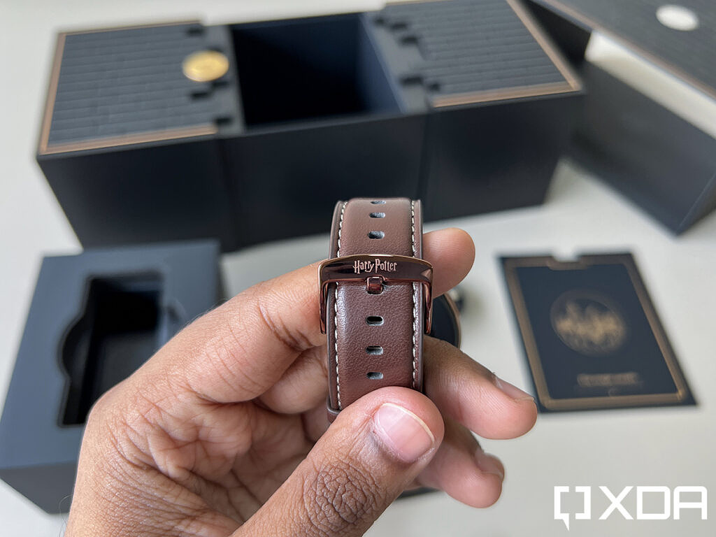 OnePlus Watch Harry Potter Limited Edition showing the branding on the clasp