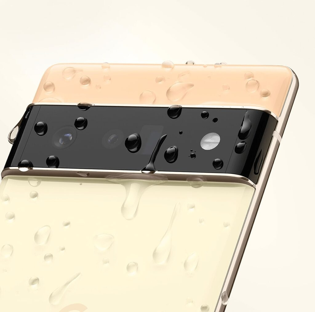 Pixel 6 and 6 Pro with water droplets leaked image