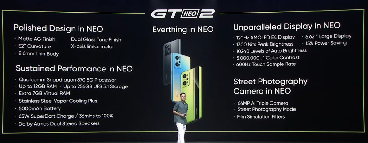 Realme GT Neo 2 features